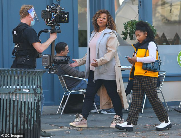 """Queen Latifah on the set of """"The Equalizer"""""""