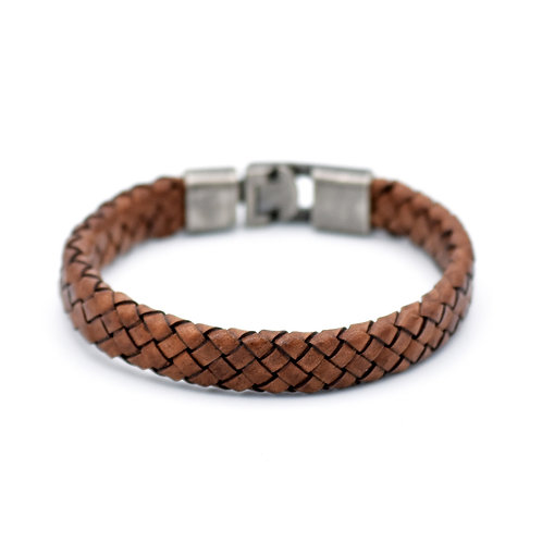 VINTAGE BROWN WOVEN LEATHER