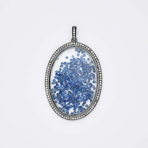 DIAMOND STERLING SILVER BLUE SAPPHIRE SHAKER
