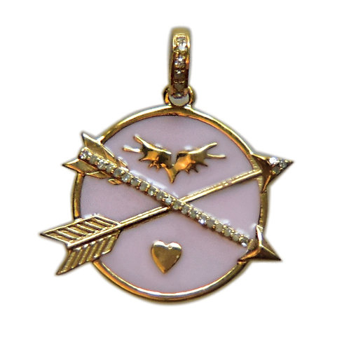 DIAMOND PINK ENAMEL ARROWS OF PROTECTION