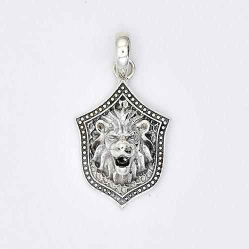 SILVER LION HEAD SHIELD