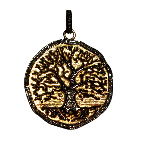 DIAMOND MIXED METAL TREE OF LIFE