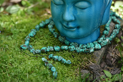 CHUNKY NATURAL TURQUOISE STRAND