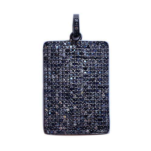 EXTRA LARGE BLUE SAPPHIRE DOG TAG