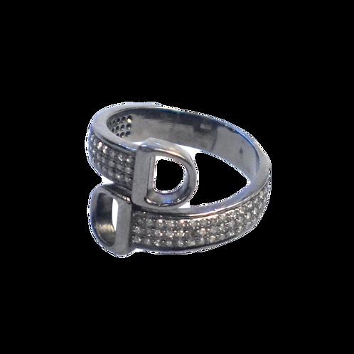 BUCKLE DIAMOND RING