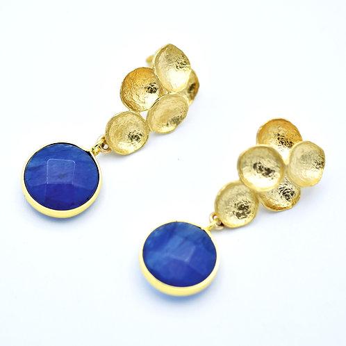 KYANITE & GOLD VERMEIL EARRINGS