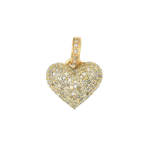 DIAMOND GOLD PUFFY HEART