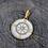 Thumbnail: DIAMOND GOLD WHITE ENAMEL COMPASS