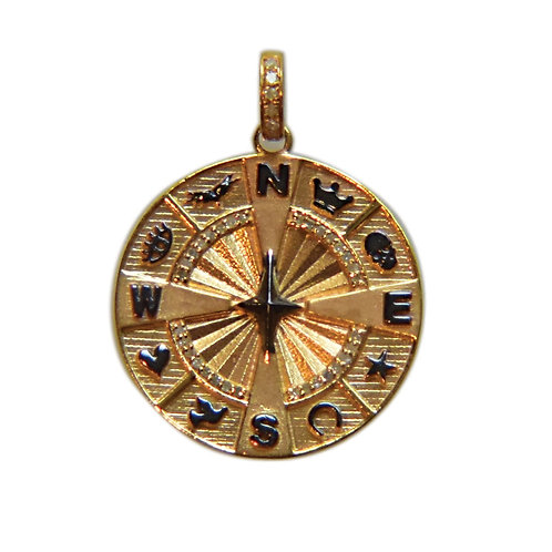 DIAMOND MIX METAL COMPASS