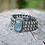 Thumbnail: KYANITE & POLKI DIAMOND BRACELET W/ PAVE DIAMOND BOARDER