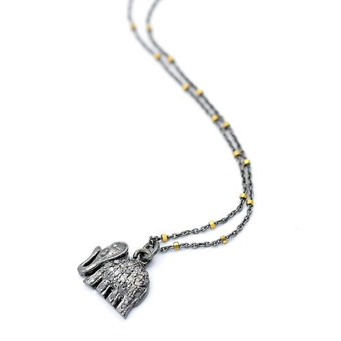 DIAMOND ELEPHANT NECKLACE