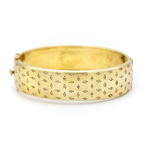 MATTE GOLD VERMEIL STARLIGHT DIAMOND BRACELET