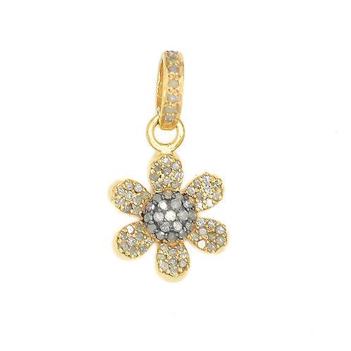 DIAMOND MIXED METAL FLOWER