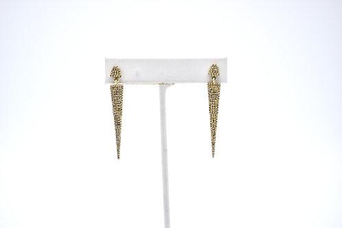 DIAMOND GOLD VERMEIL SPIKE EARRINGS