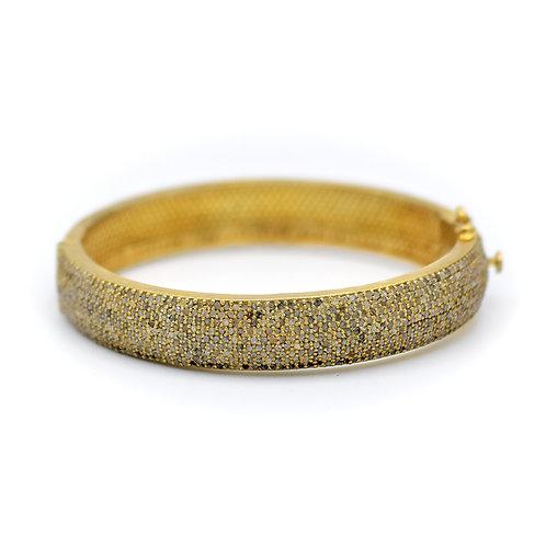 ALL DIAMOND CHUNKY GOLD VERMEIL BRACELET