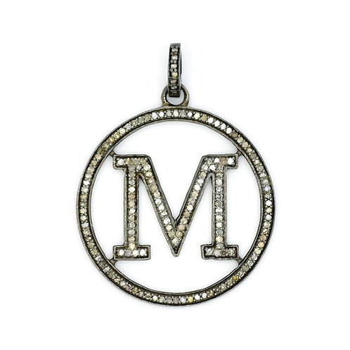DIAMOND STERLING SILVER INITIAL