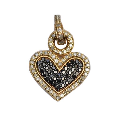 DIAMOND MIXED METAL HEART