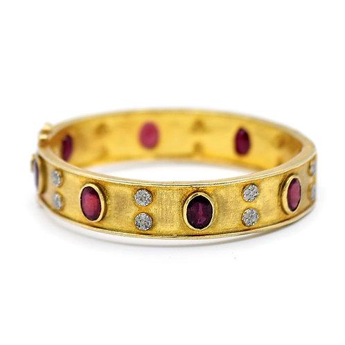 GOLD VERMEIL DIAMOND & RUBY BRACELET