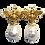 Thumbnail: BAROQUE PEARL GOLD BEE EARRINGS