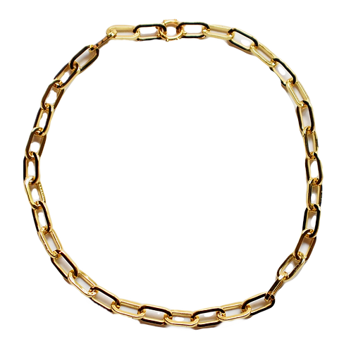 GOLD XL PAPERCLIP LINK CHAIN