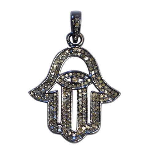DIAMOND STERLING SILVER HAMSA