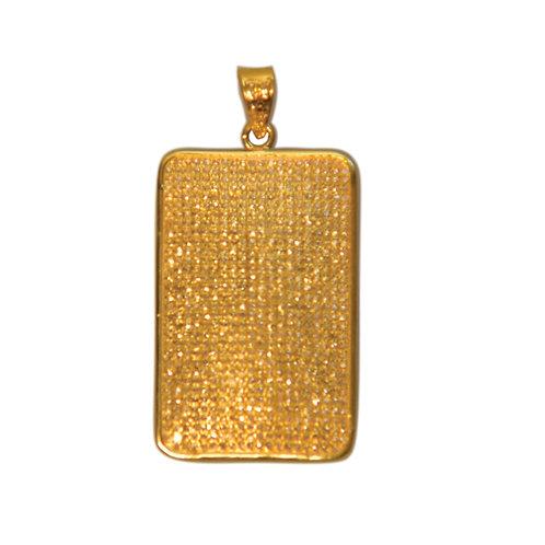 XL DIAMOND GOLD DOG TAG