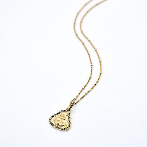 GOLD VERMEIL & DIAMOND BUDDHA