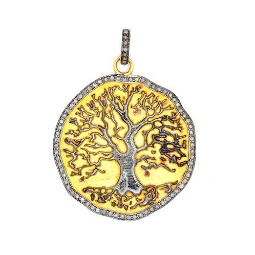 DIAMOND MIXED METAL TREE OF LIFE