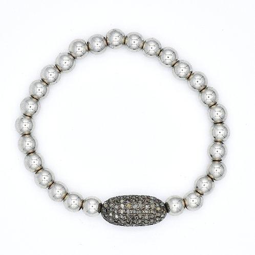 DIAMOND  BEADED STRETCH BRACELET