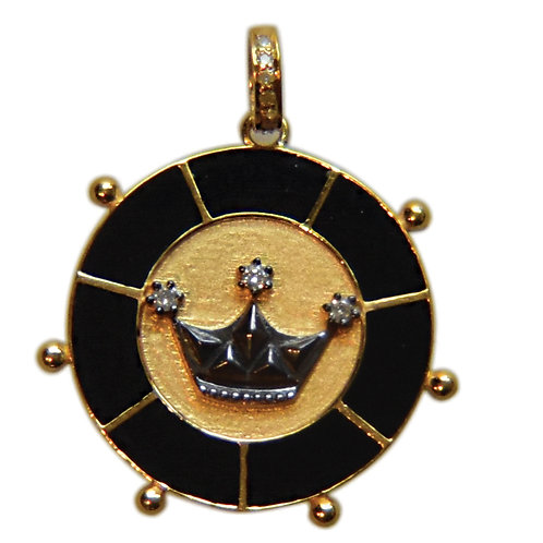 DIAMOND BLACK ENAMEL CROWN