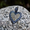 Thumbnail: MEDIUM YELLOW AND BLUE SAPPHIRE HEART PENDANT