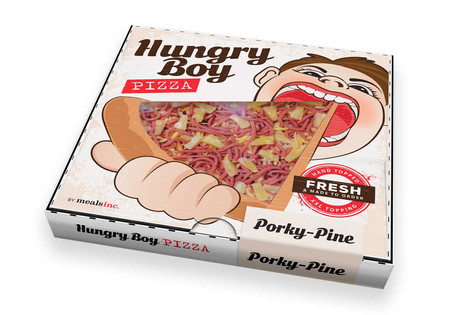 Hungry Boy Pizza Box