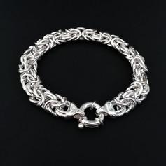 Chunky Woven Silver Bracelet