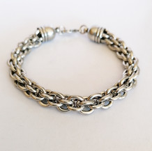Chunky Rope Silver Bracelet