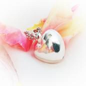 Silver Bubble Heart Pendant