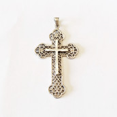 Silver Ornate Cross 5.5cm