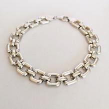 Chunky Square Silver Bracelet