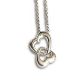 Double Hearts Silver Pendant