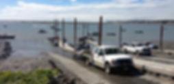 Kenai boat ramp is near the mouth of the Kenai River.