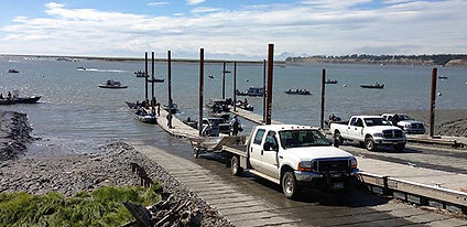 Kenai boat ramp is near the mouth of the Kenai River.
