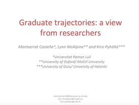 Graduate trajectories: a view from researchers.