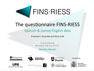 The questionnaire FINS-RIDSS. Spanish & (some) English data.