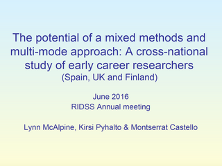 The potential of mixed methods.