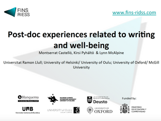 Post-doc experiences related to writing and well-being.