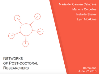 Networks and Communities of Post-doctoral Researchers.