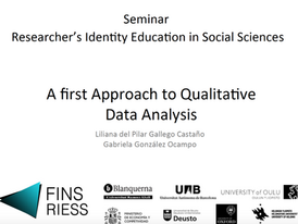 A first approach to Qualitative Data Analysis.