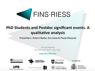 Significant Events of PhD students and Postdoc. A qualitative analysis.