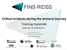 Critical Incidents during the doctoral journey