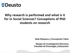 Conceptions of PhD students on research.