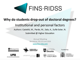 Why do students drop out of doctoral degrees?